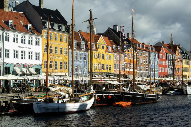 Nyhavn, de nieuwe haven, Kopenhagen royalty-vrije stock foto