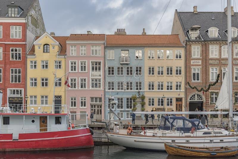 Nyhavn nabrzeże w Kopenhaga fotografia stock