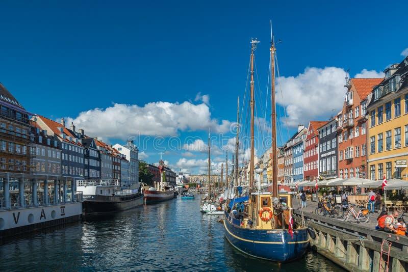 Nyhavn New harbour in Copenhagen stock photography