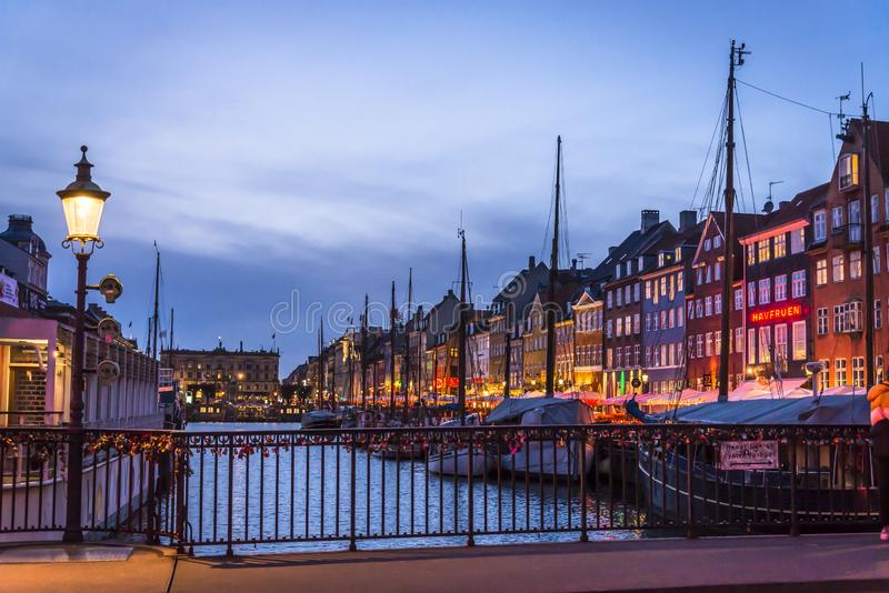 Nyhavn or New harbour, Copenhagen, Denmark royalty free stock photography