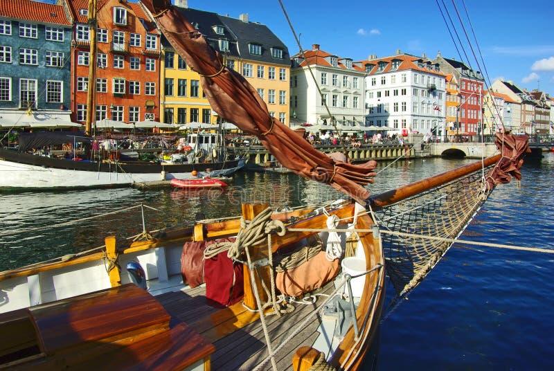 Nyhavn (nieuwe Haven) in Kopenhagen royalty-vrije stock afbeeldingen