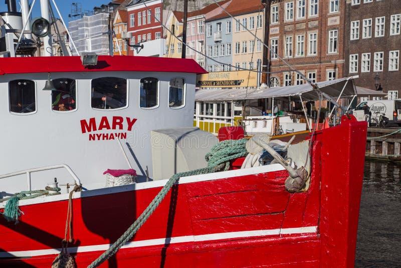 Nyhavn schronienie w Kopenhaga, Dani zdjęcia royalty free