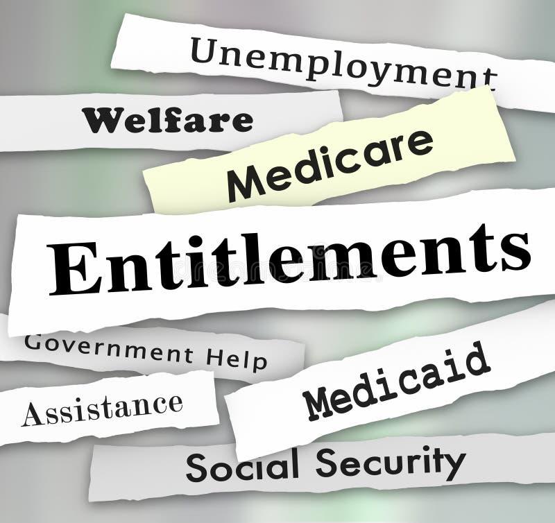 Nyheterna för berättiganderegeringsplanMedicare Medicaid välfärd vektor illustrationer