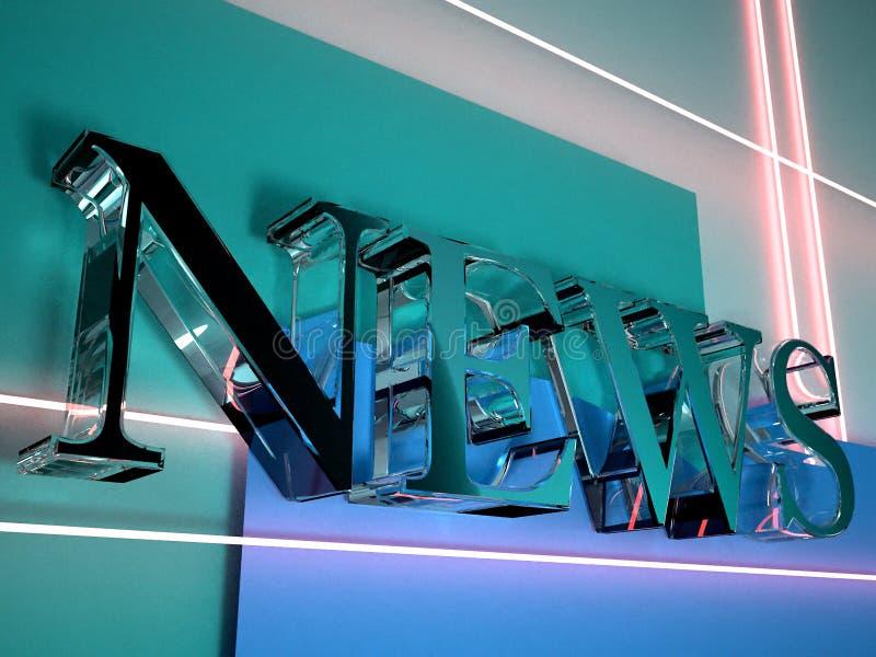 nyheterna för logo 3d royaltyfri illustrationer