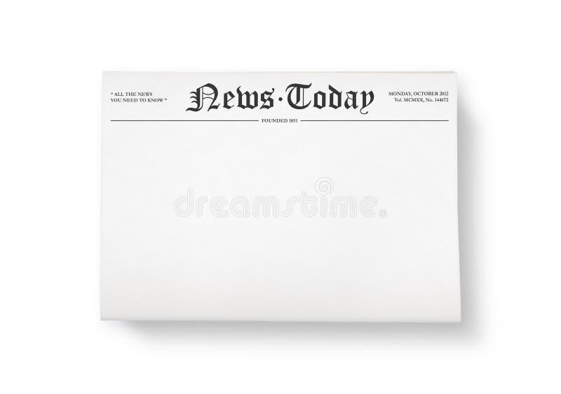 Nyheterna i dag med tomt utrymme vektor illustrationer