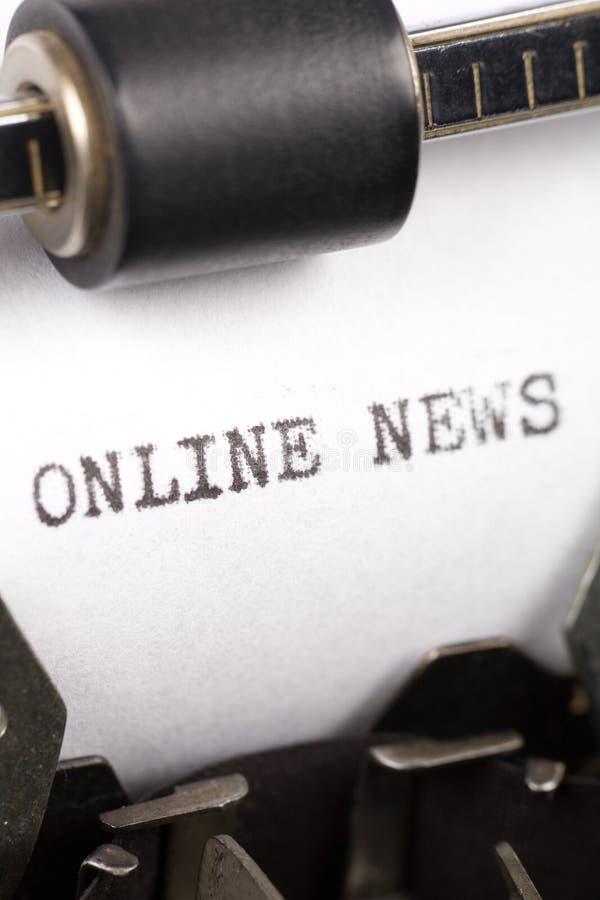 Nyheterna Online Royaltyfria Bilder