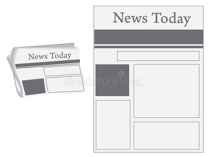 nyheternapapper stock illustrationer