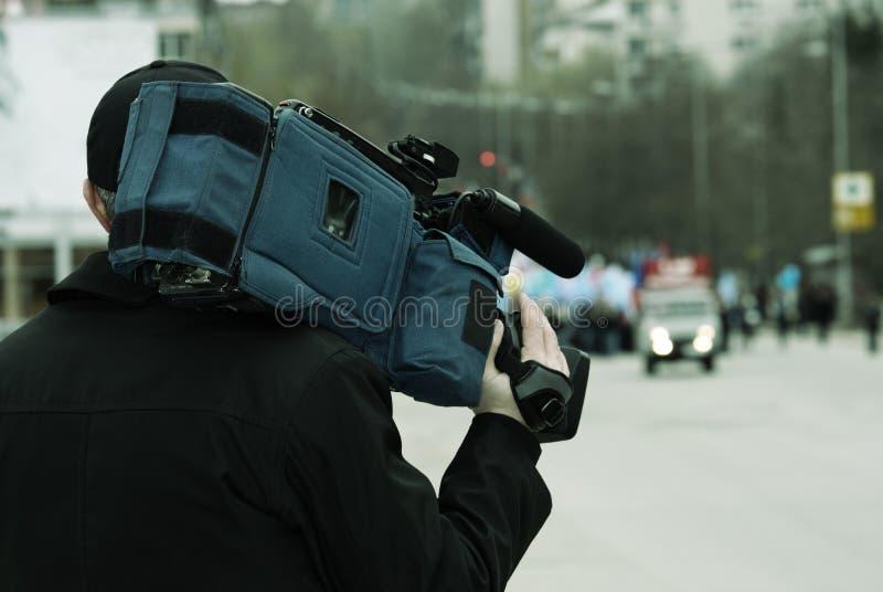 nyheternareporter royaltyfria bilder