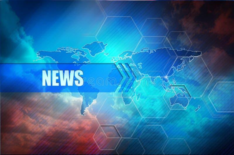 Nyheternatitelradbakgrund royaltyfri bild