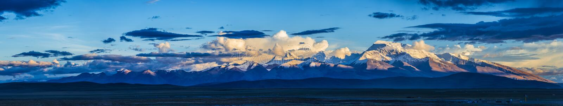 Nyi de Gurla Mandhata, ou de Naimona, memorando Nani, Tibet foto de stock royalty free