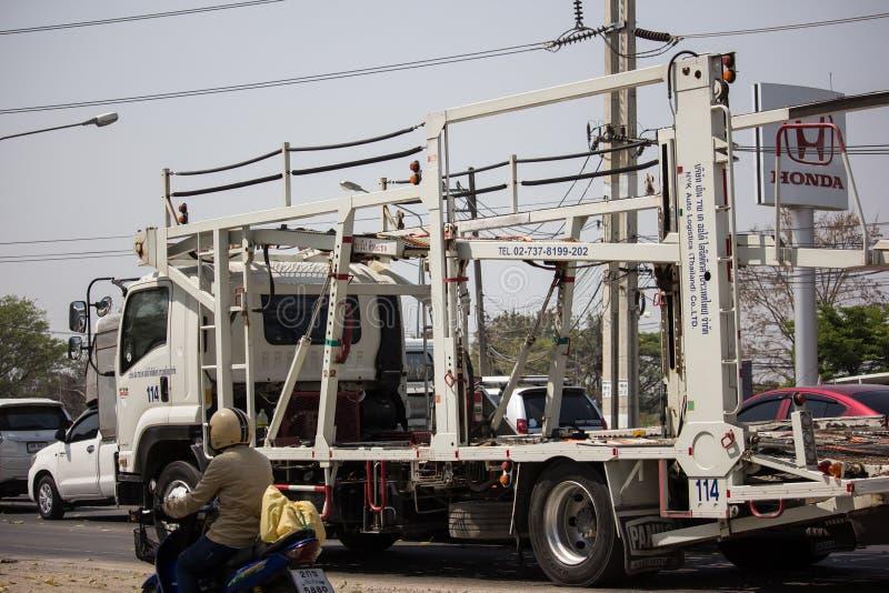 NYK-de Vrachtwagen van de drageraanhangwagen voor Honda-auto royalty-vrije stock afbeelding