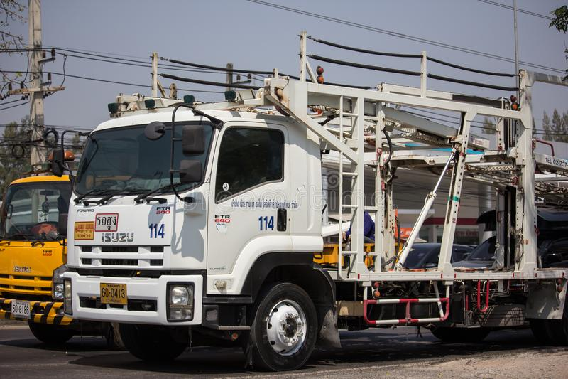 NYK-de Vrachtwagen van de drageraanhangwagen voor Honda-auto stock afbeelding