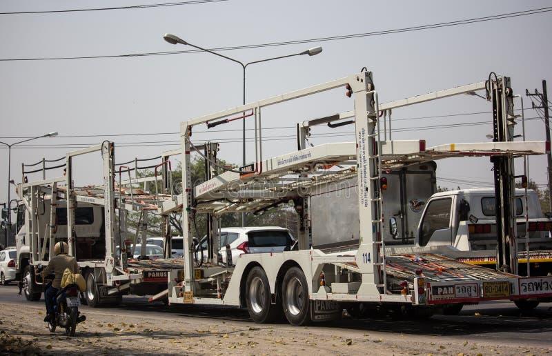 NYK-de Vrachtwagen van de drageraanhangwagen voor Honda-auto royalty-vrije stock foto's