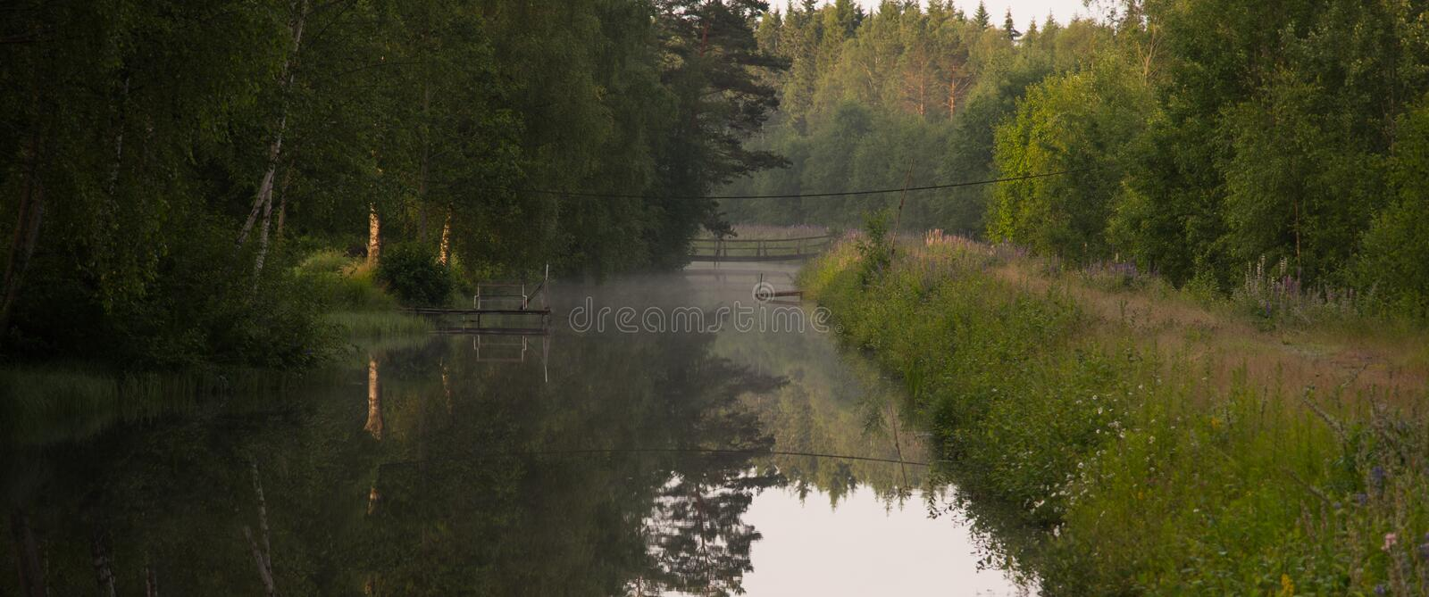 a calm channel in Nykroppa Sweden royalty free stock photos