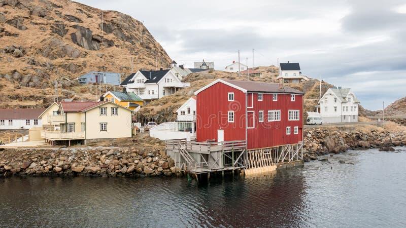 Nyksund sur Langoya dans Vesteralen, Norvège photo libre de droits