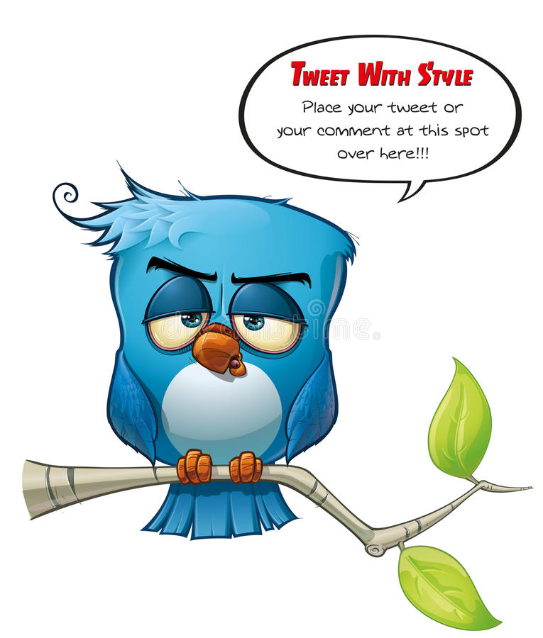 Nykter blå fågel för disktanthögtalare stock illustrationer