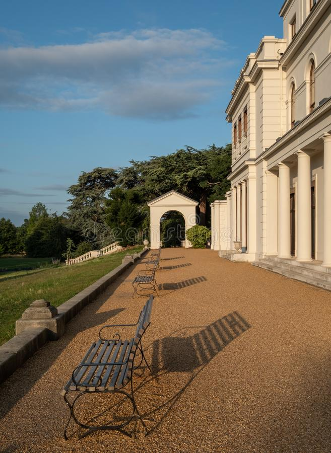 Nyligen renoverade Gunnersbury parkerar och museet på det Gunnersbury godset, London UK som ägas en gång av den Rothschild familj fotografering för bildbyråer