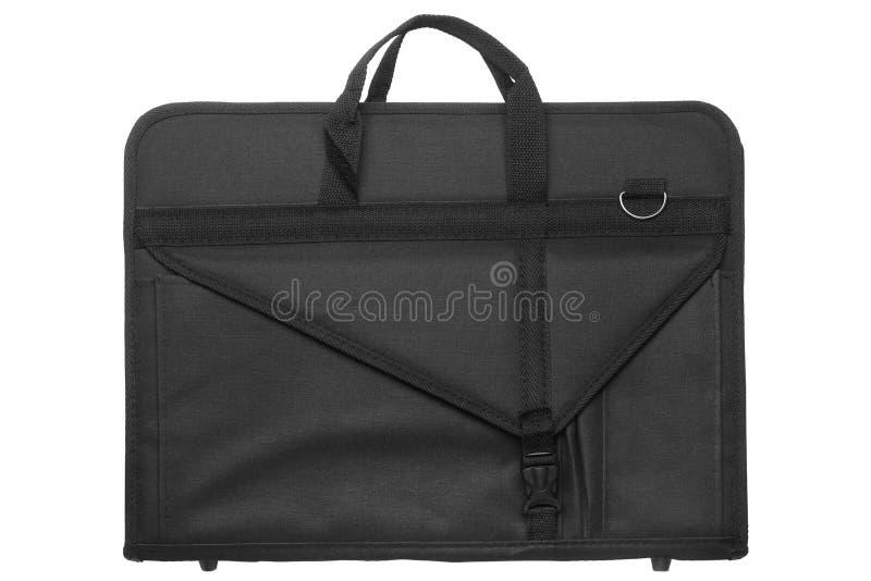 Nylon artist portfolio bag. Isolated on white background royalty free stock photo