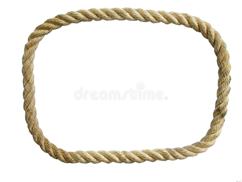Nylon rope loop stock photo