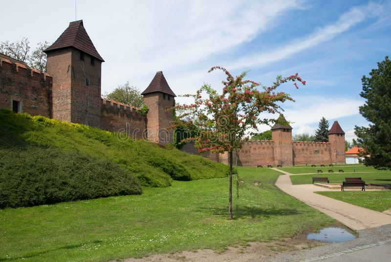 Nymburk, Tsjechische republiek royalty-vrije stock afbeelding