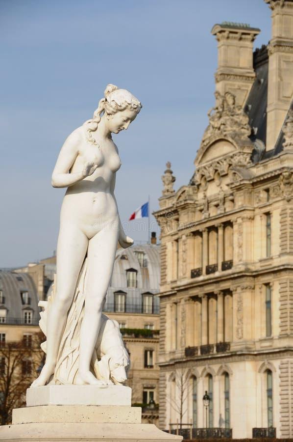 Nymfen av Louis Auguste Leveque, Paris arkivbilder