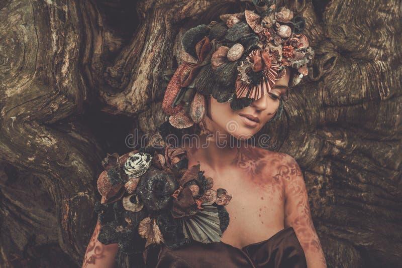 Nymfkvinna royaltyfri foto