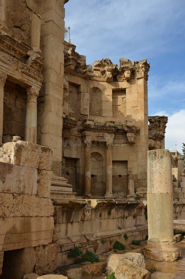 Nymphaeum, Jerash fotografia stock libera da diritti