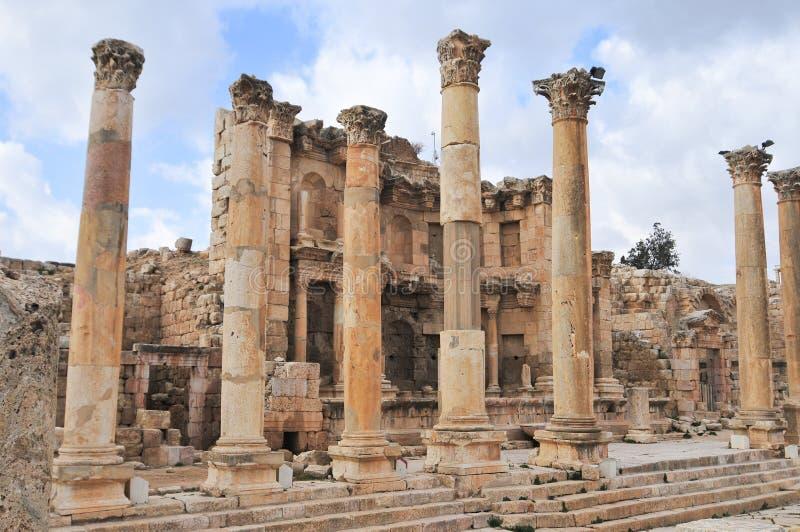 Nymphaeum - Jerash, Giordania immagini stock