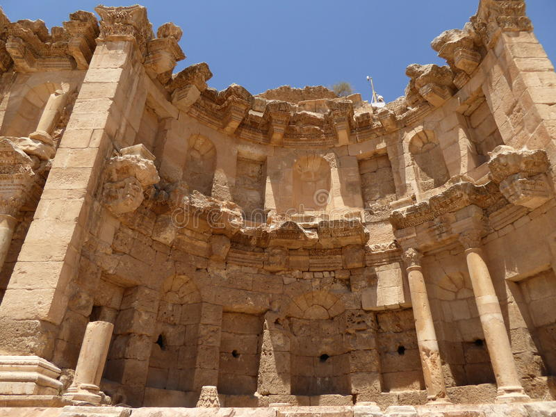 The nymphaeum of Jerash, Jordan royalty free stock photography