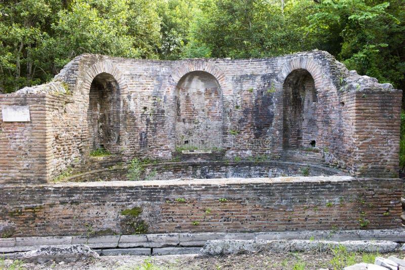 Nymphaeum w Butrint zdjęcie stock