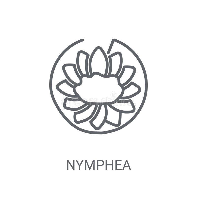 Nympheapictogram In Nymphea-embleemconcept op witte achtergrond Fr vector illustratie