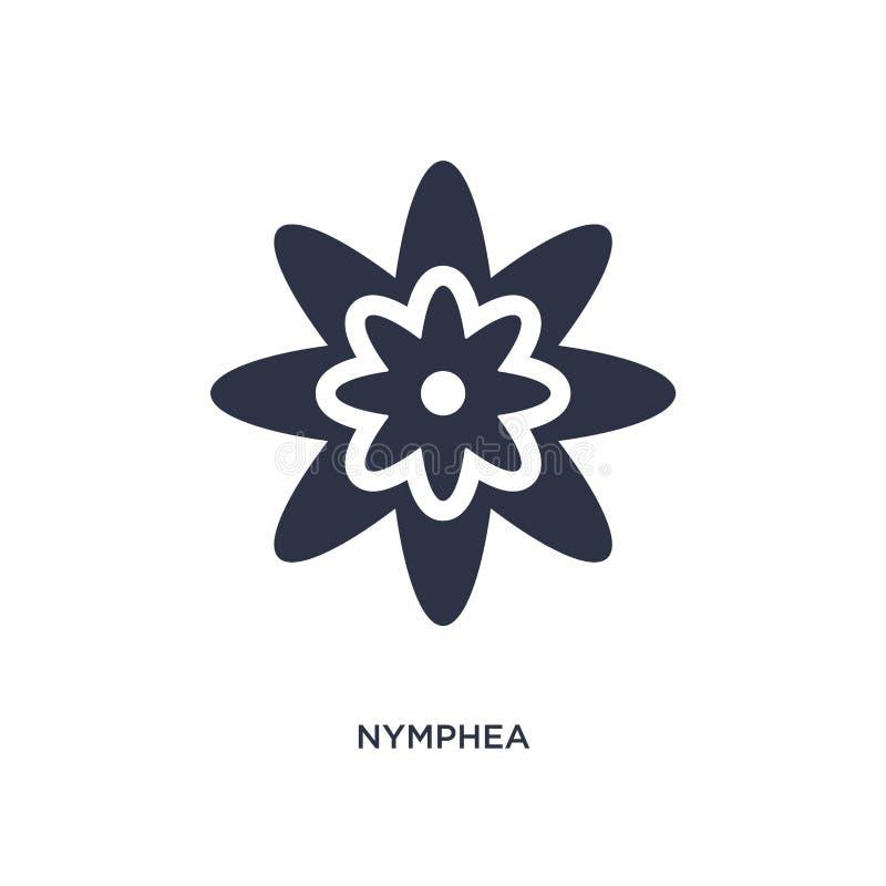 nympheapictogram op witte achtergrond Eenvoudige elementenillustratie van Aardconcept stock illustratie