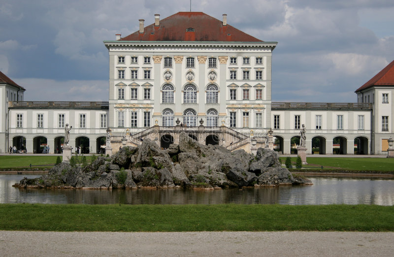 Nymphenbur castle,munich royalty free stock images