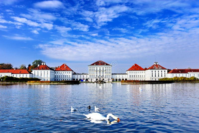 Nymphenburg宫殿在慕尼黑德国 免版税库存照片