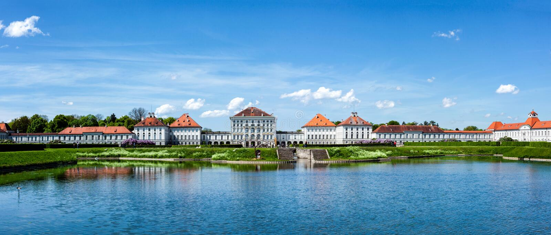 Nymphenburg宫殿 巴伐利亚德国慕尼黑 库存照片