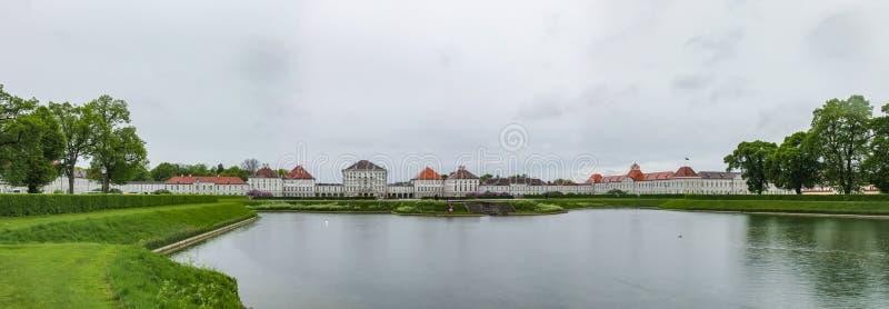 Nymphenburg pałac - jeden przyciągania w Monachium w Bavaria zdjęcie stock