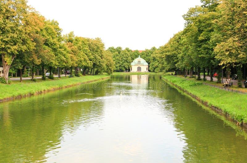 nymphenburg pałac sceneria fotografia stock