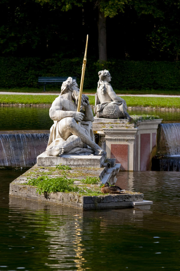 Nymphenburg park stock photography