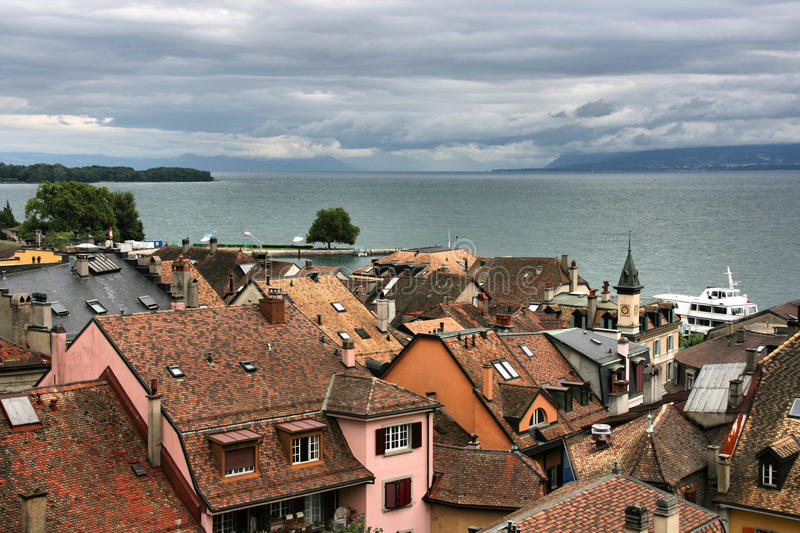 Nyon Switzerland stock image Image of architecture 12413511