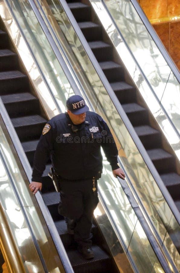 NYPD反恐怖主义警察 库存照片