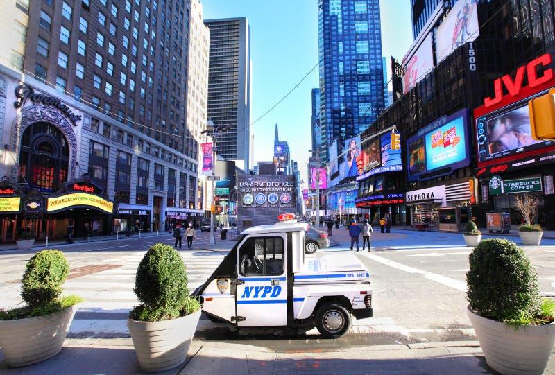NYPD在时代广场 免版税库存图片