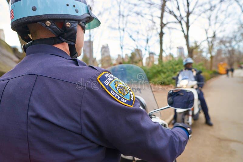 NYPD stock afbeeldingen