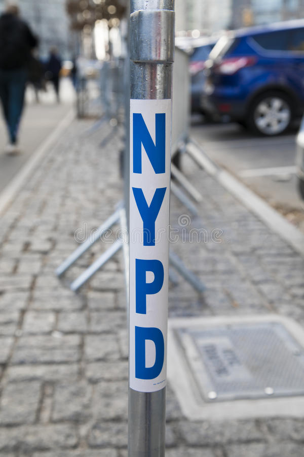 NYPD Barrier royalty free stock photography