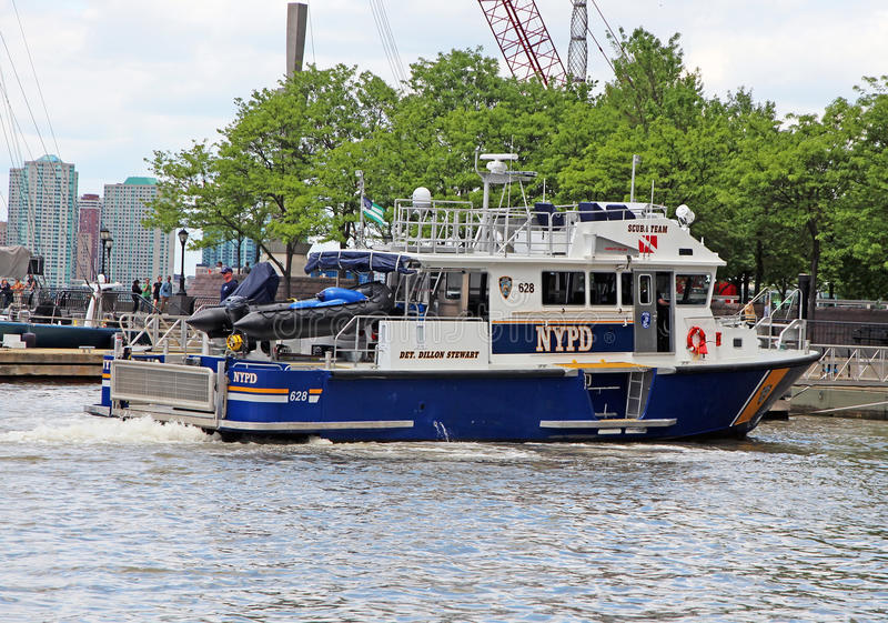 Download NYPD Boat editorial photography. Image of helping, police - 41064772