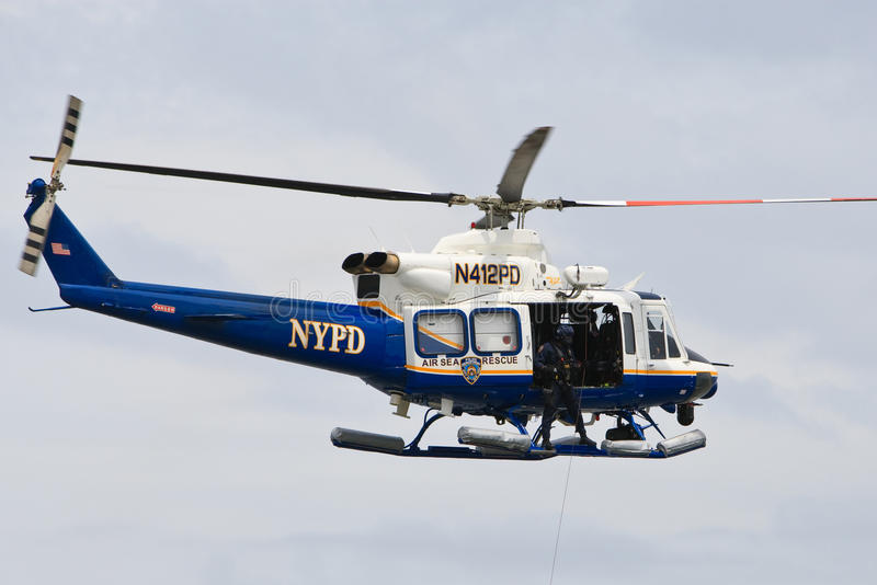 NYPD Helicopter stock photos