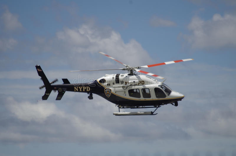 NYPD-helikopter arkivfoto