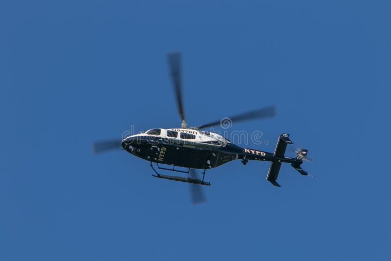 NYPD helikopter zdjęcie stock