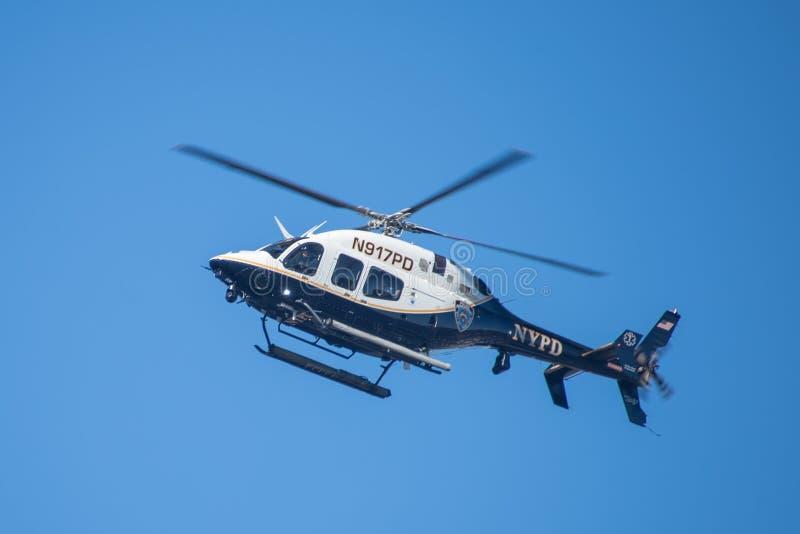 NYPD helikopter policyjny - 2 obraz royalty free