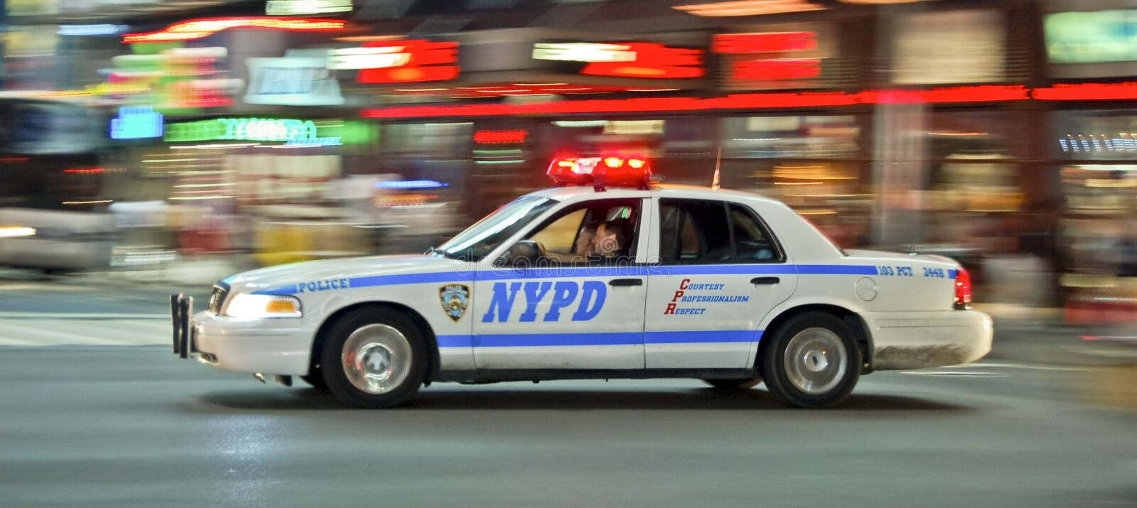 NYPD high speed stock image