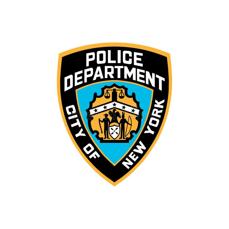 NYPD Logo Editorial Vetora Illustration ilustração royalty free